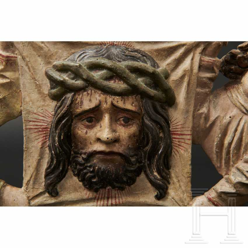 Two angels with a handkerchief of Saint Veronica, Memmingen, 1st quarter of the 16th century - photo 13