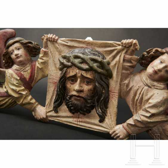 Two angels with a handkerchief of Saint Veronica, Memmingen, 1st quarter of the 16th century - photo 15