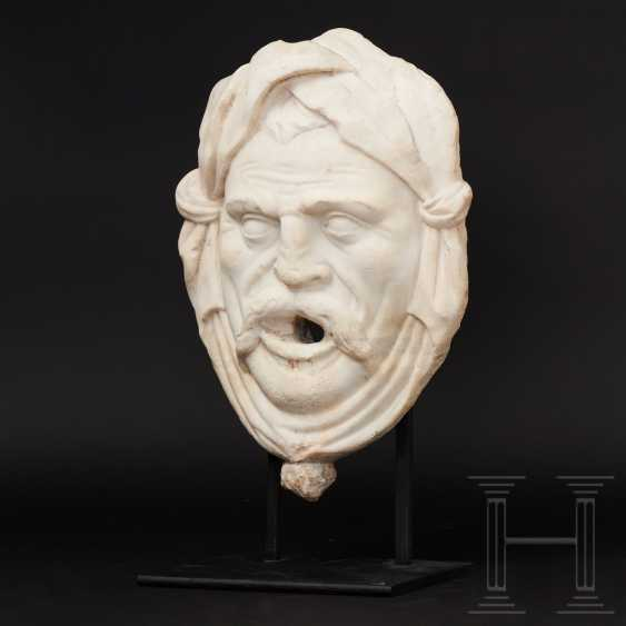 Fountain mask made of marble, Italy, 16./17. century - photo 1