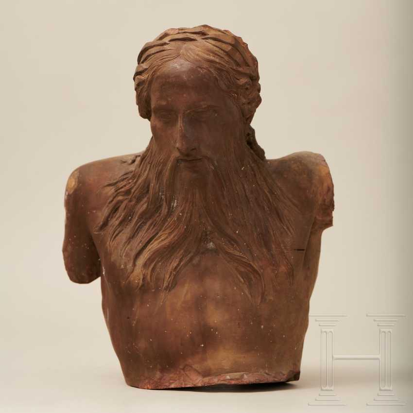 Terracotta bust of a river god, France, 1st half of the 18th century - photo 1