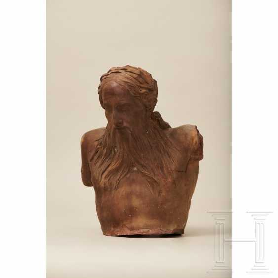 Terracotta bust of a river god, France, 1st half of the 18th century - photo 2