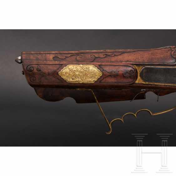 Luxury wheel lock rifle, Matthias Kubik in Prague, dated 1727 - photo 2