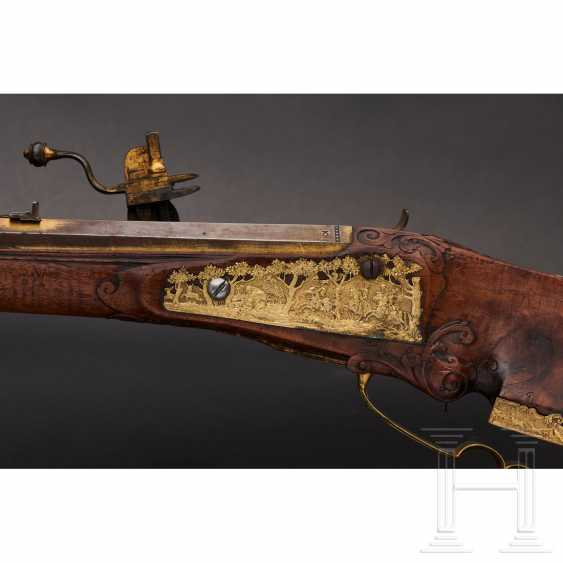 Luxury wheel lock rifle, Matthias Kubik in Prague, dated 1727 - photo 5