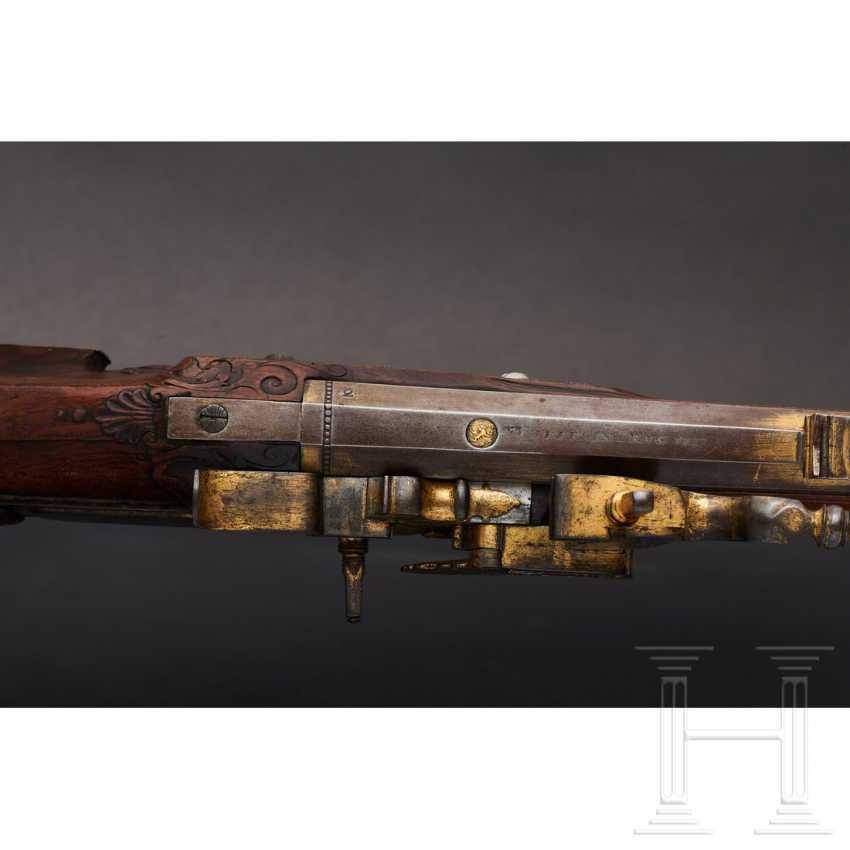 Luxury wheel lock rifle, Matthias Kubik in Prague, dated 1727 - photo 10