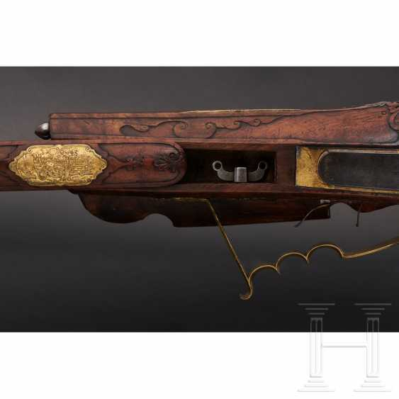 Luxury wheel lock rifle, Matthias Kubik in Prague, dated 1727 - photo 11