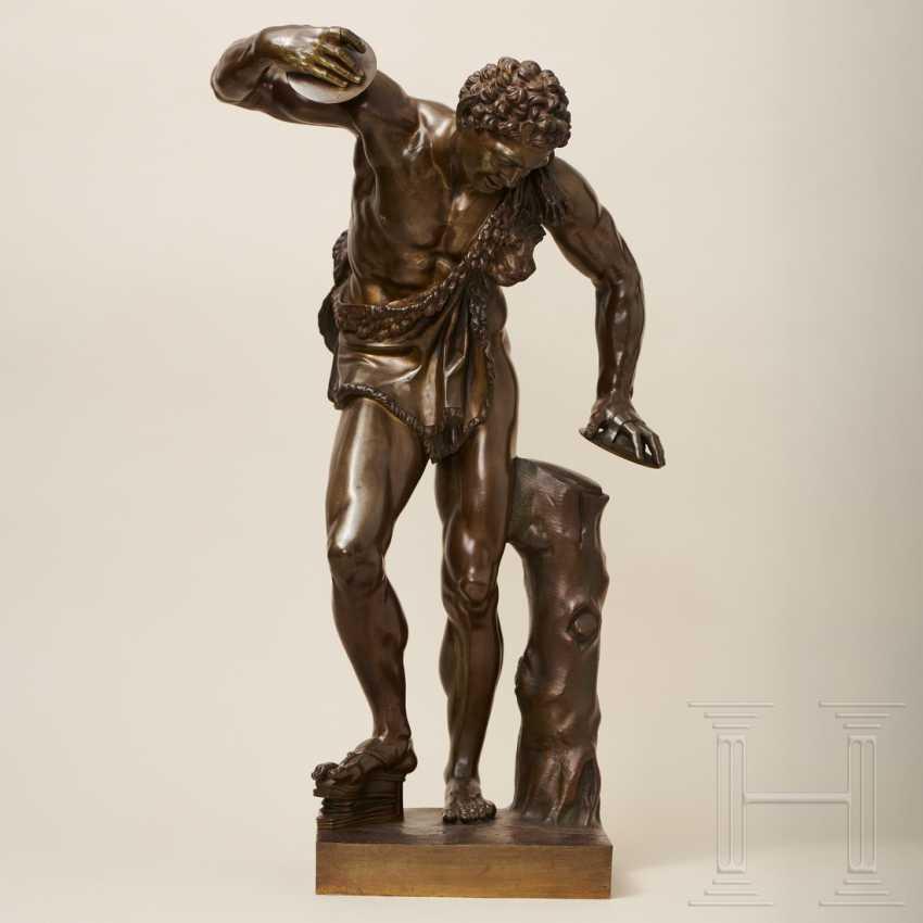 """Dancing Faun"" - neoclassical bronze, Italy, 19th century - photo 1"