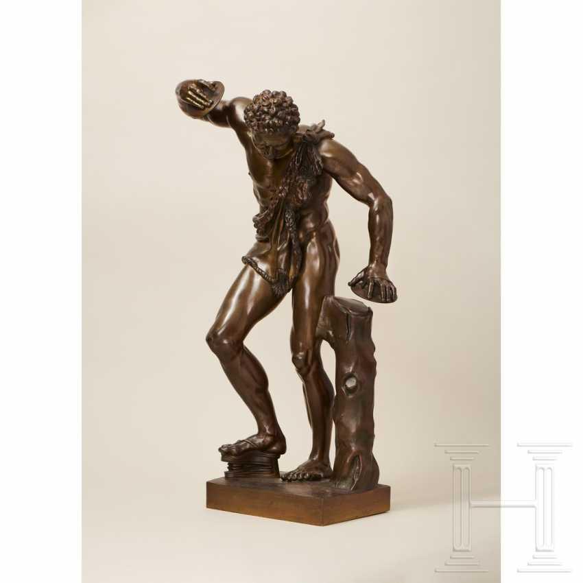"""Dancing Faun"" - neoclassical bronze, Italy, 19th century - photo 2"
