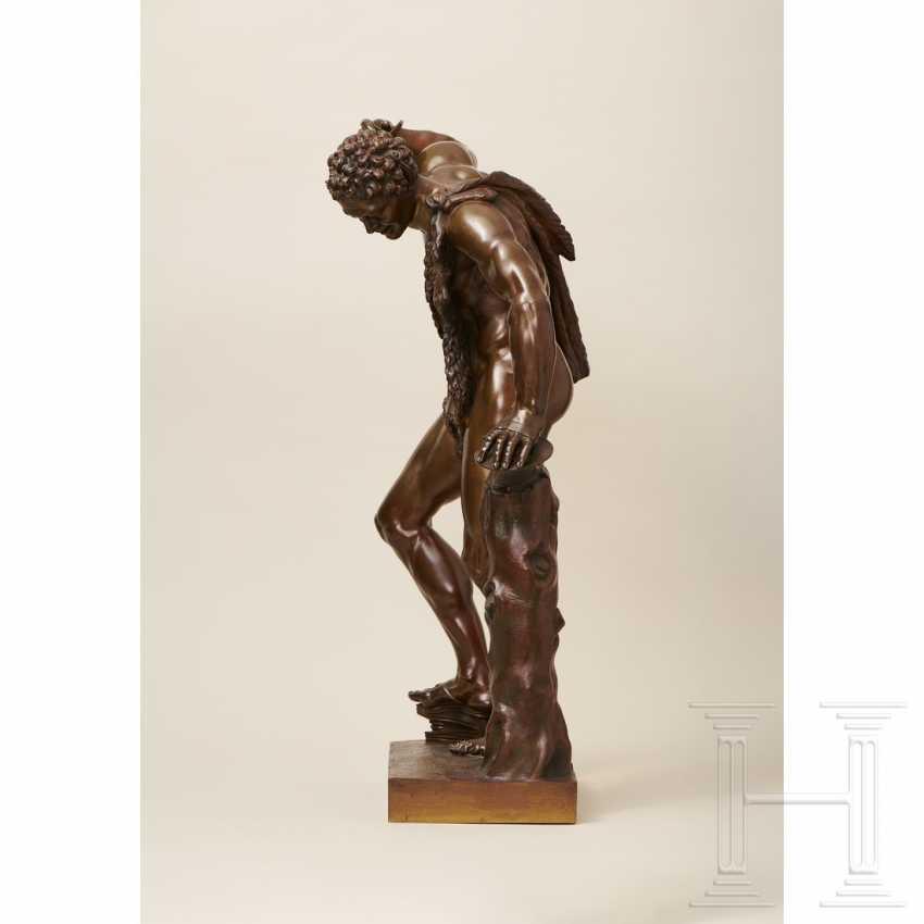 """Dancing Faun"" - neoclassical bronze, Italy, 19th century - photo 3"