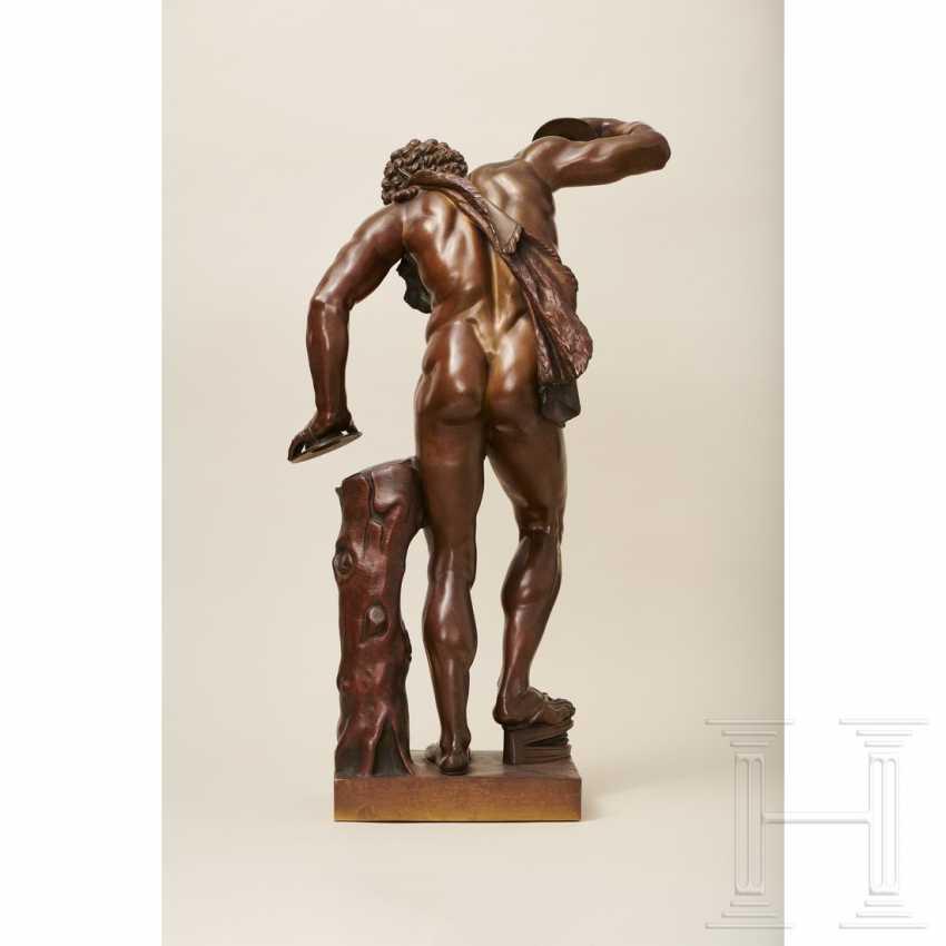 """Dancing Faun"" - neoclassical bronze, Italy, 19th century - photo 4"
