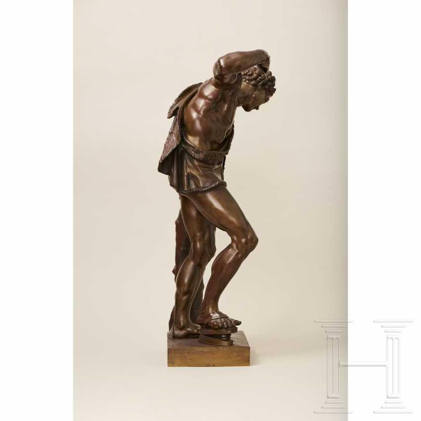 """Dancing Faun"" - neoclassical bronze, Italy, 19th century - photo 5"