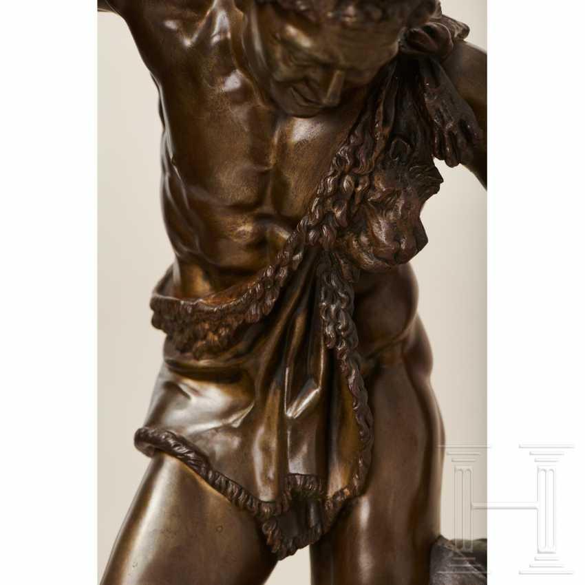 """Dancing Faun"" - neoclassical bronze, Italy, 19th century - photo 8"
