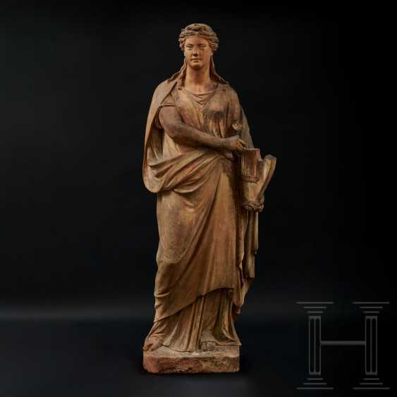 Terracotta statue of Terpsichore, Austria, 2nd half of the 19th century - photo 1