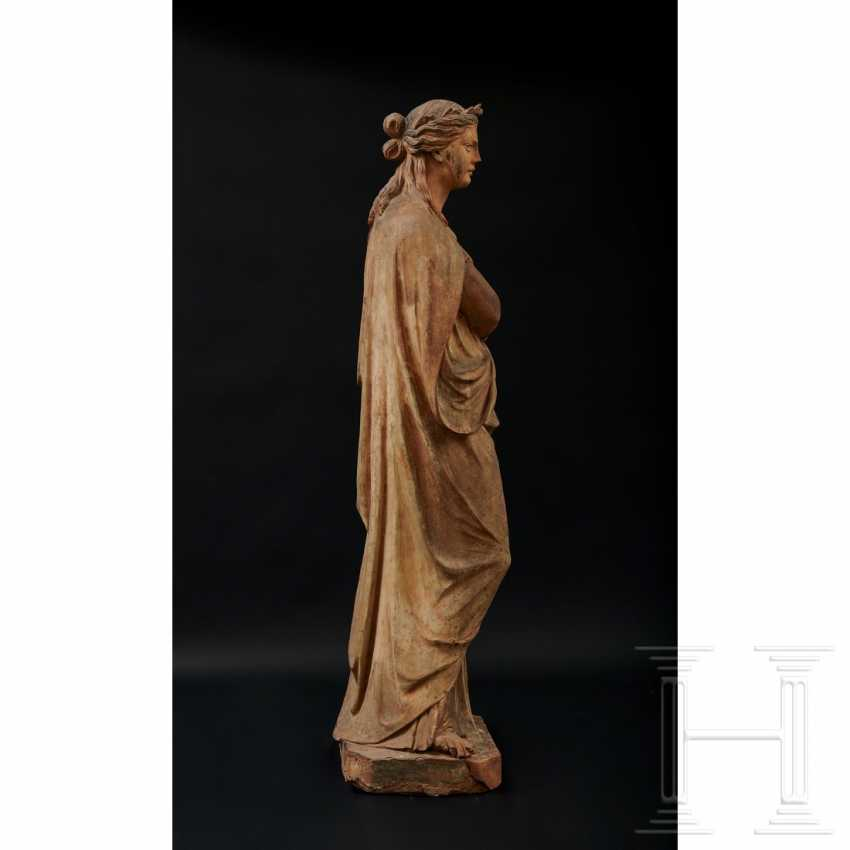 Terracotta statue of Terpsichore, Austria, 2nd half of the 19th century - photo 3