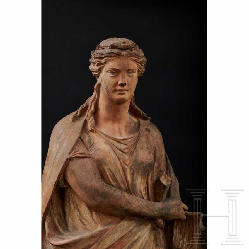Terracotta statue of Terpsichore, Austria, 2nd half of the 19th century - photo 5