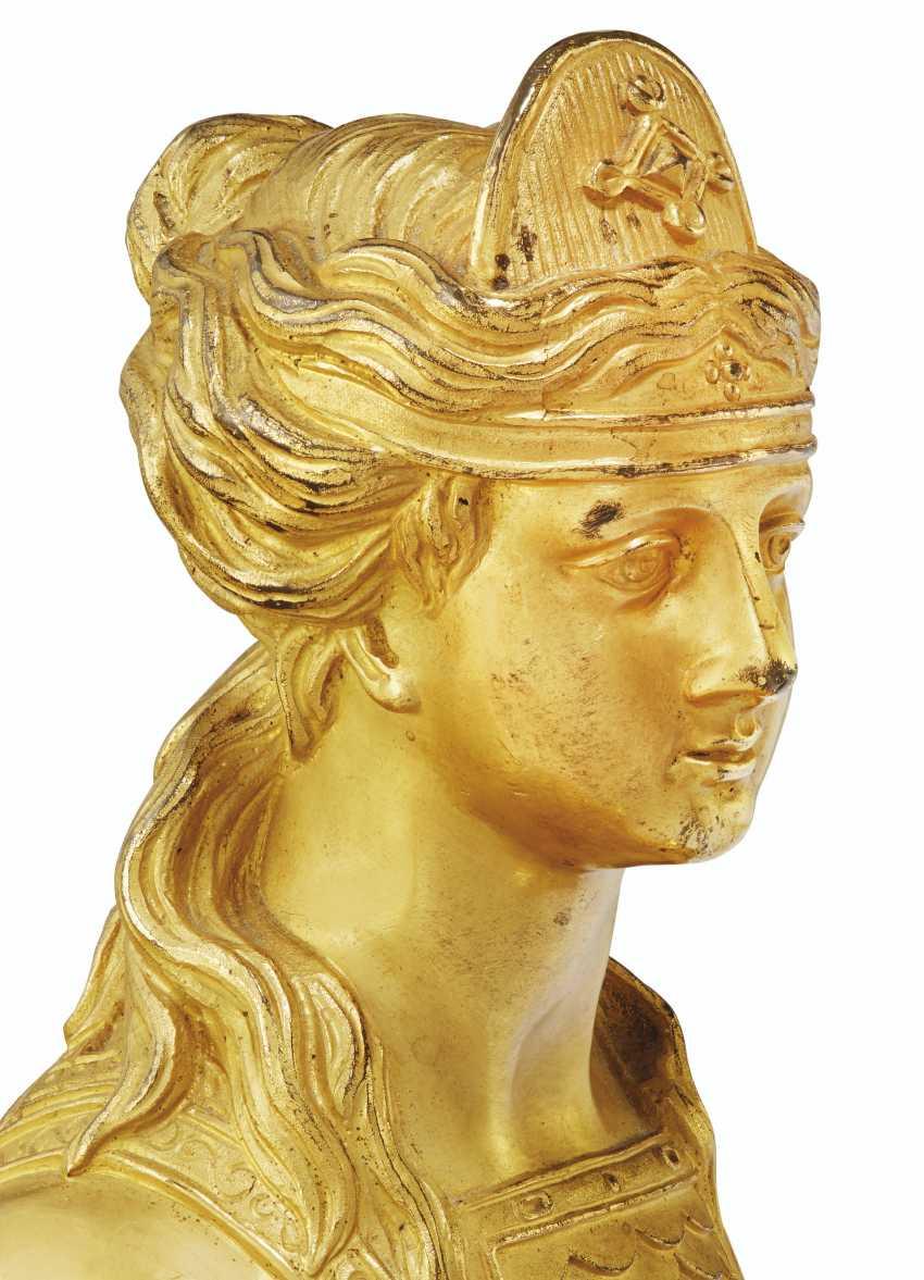 A PAIR OF NAPOLEON III ORMOLU CHENETS - photo 3
