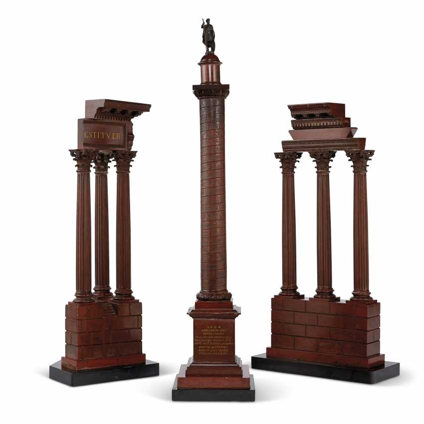 THREE ITALIAN ROSSO ANTICO MARBLE GRAND TOUR MODELS - photo 1