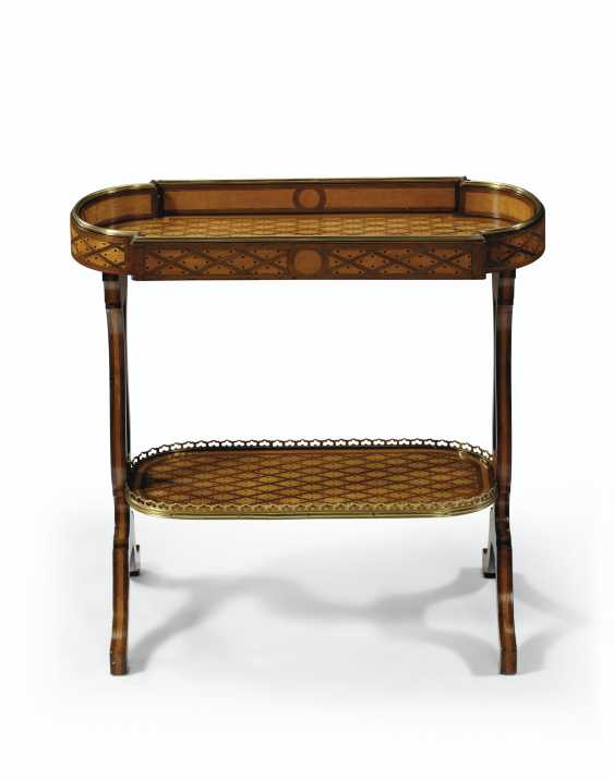 A FRENCH BRASS-MOUNTED AMARANTH AND SYCAMORE PARQUETRY TRICOTEUSE - photo 4