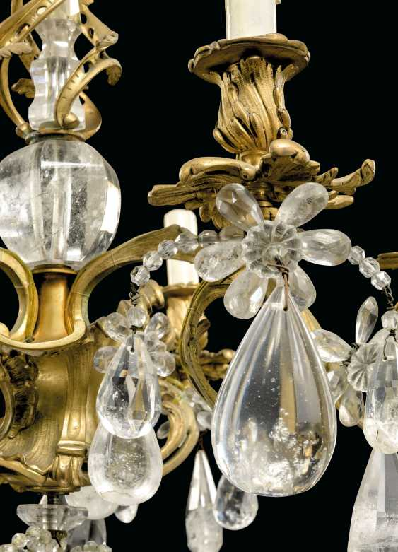 A LOUIS XV-STYLE ORMOLU, BEADED-GLASS AND ROCK-CRYSTAL SIX-LIGHT CHANDELIER - photo 3