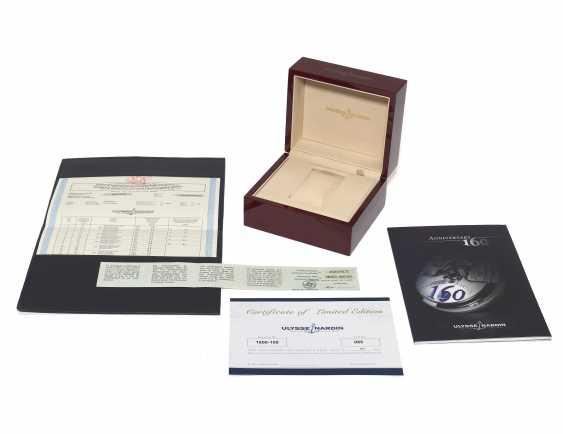 ULYSSE NARDIN, 160TH ANNIVERSARY LIMITED EDITION CHRONOMETER, 18K WHITE GOLD, REF. 1600-100, NO. 85 OF 500 - photo 4