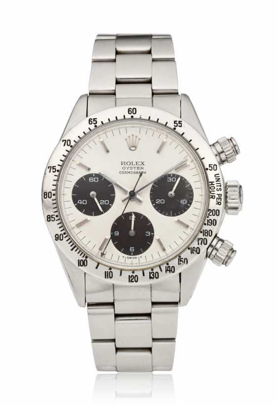 ROLEX, OYSTER COSMOGRAPH DAYTONA CHRONOGRAPH, REF. 6265, OWNED & WORN BY AUTO-RACING LEGEND CARROLL SMITH - photo 1