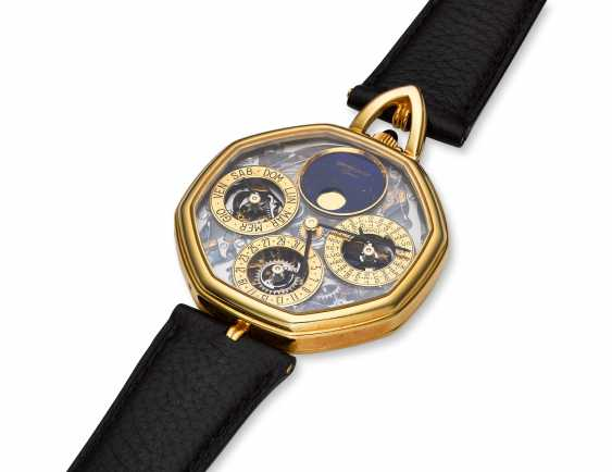 GERALD GENTA, A SKELETONIZED PERPETUAL CALENDAR WRISTWATCH WITH MOON PHASES - photo 2