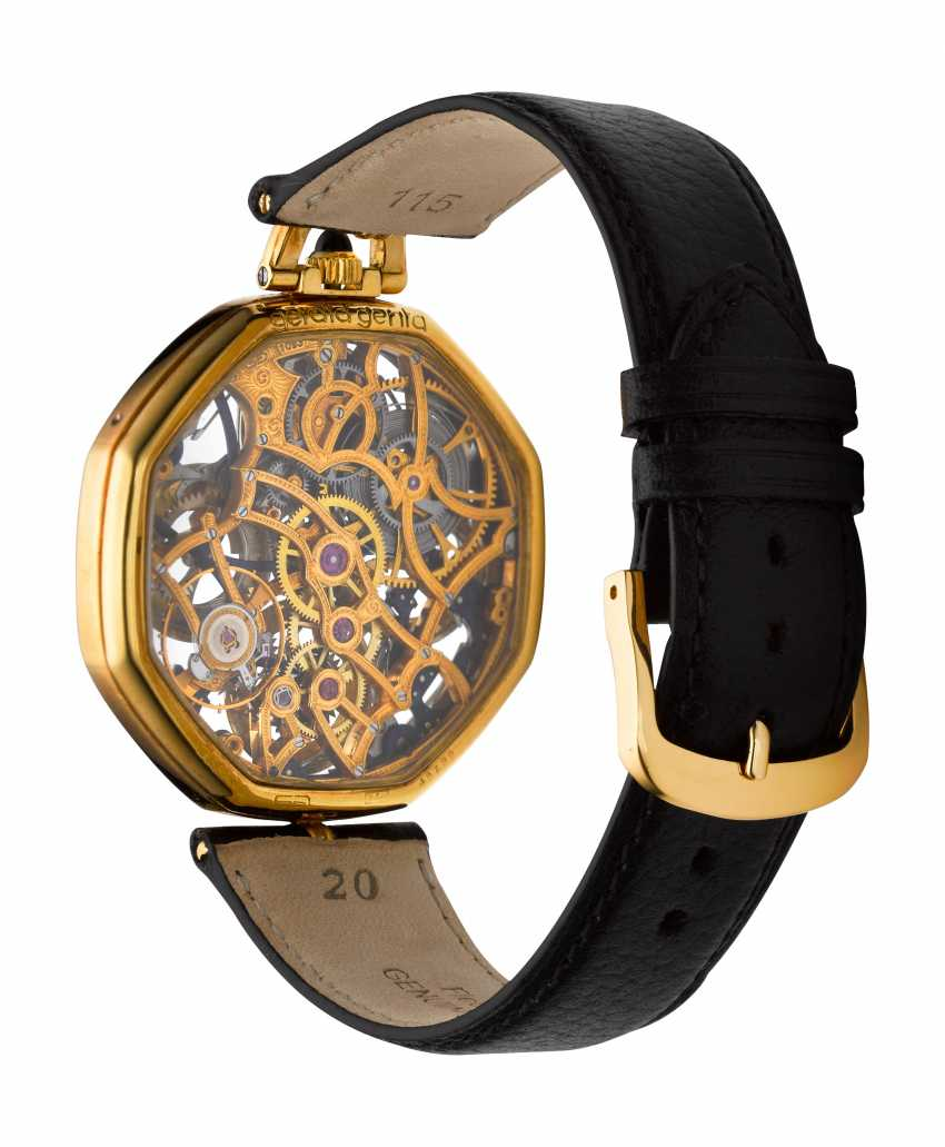 GERALD GENTA, A SKELETONIZED PERPETUAL CALENDAR WRISTWATCH WITH MOON PHASES - photo 3