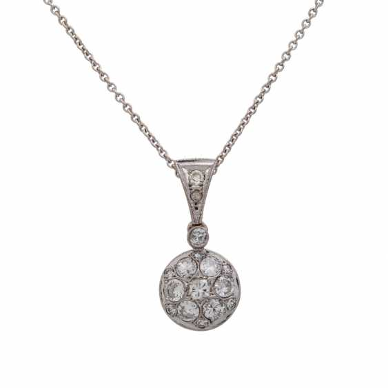 Pendant with brilliant and octagonal diamonds together approx. 0.88 ct, - photo 1