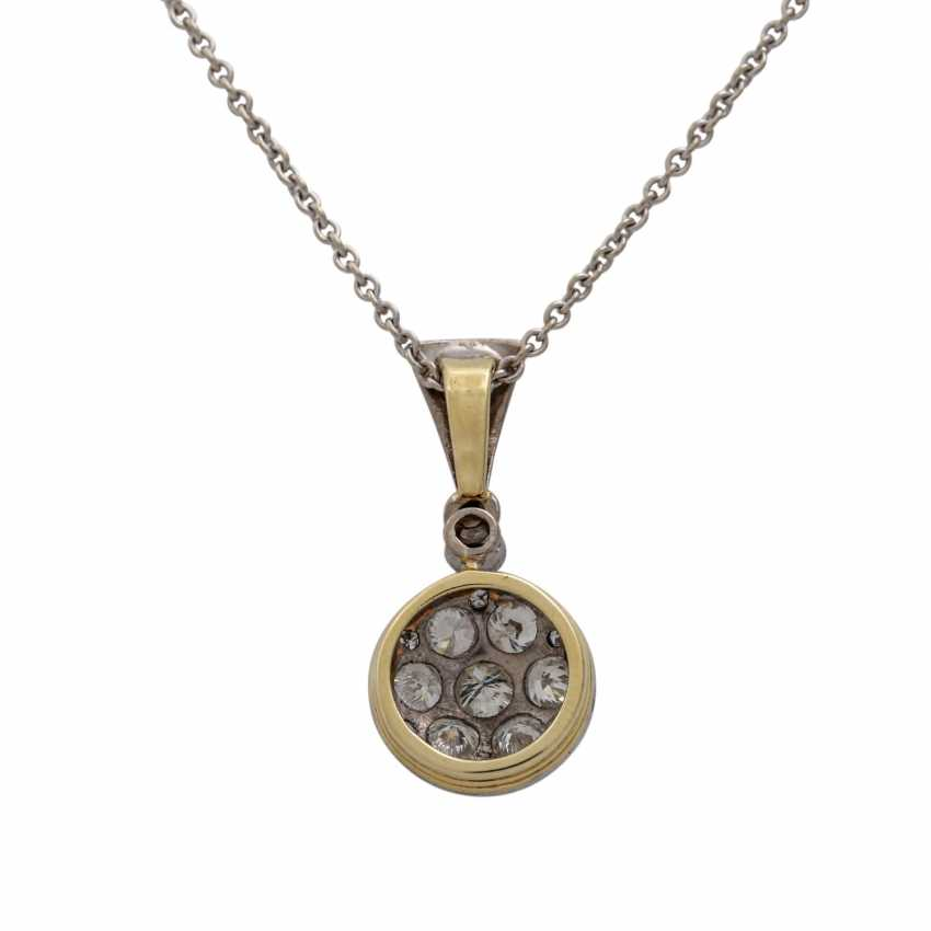 Pendant with brilliant and octagonal diamonds together approx. 0.88 ct, - photo 3