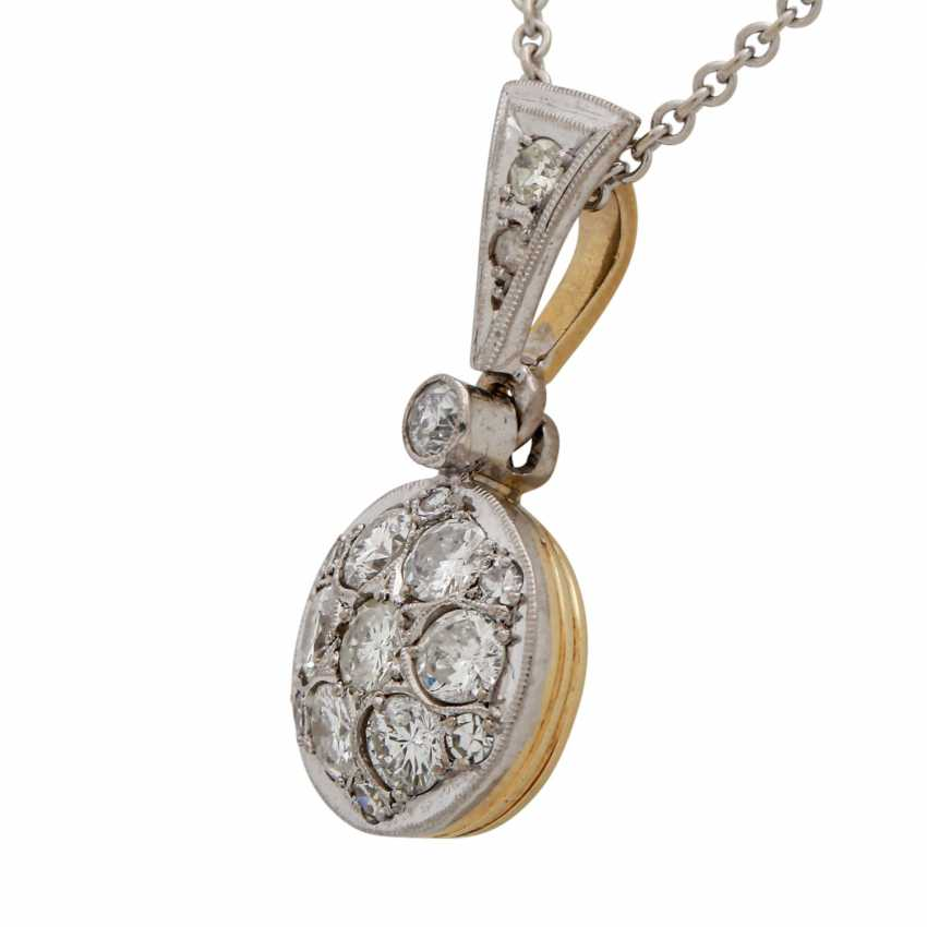 Pendant with brilliant and octagonal diamonds together approx. 0.88 ct, - photo 4