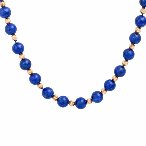 Lapilazuli chain with intermediate parts - photo 2