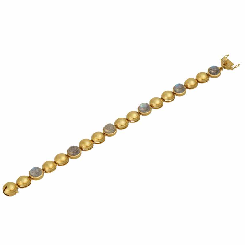 Bracelet with 6 round labradorite cabochons, - photo 3