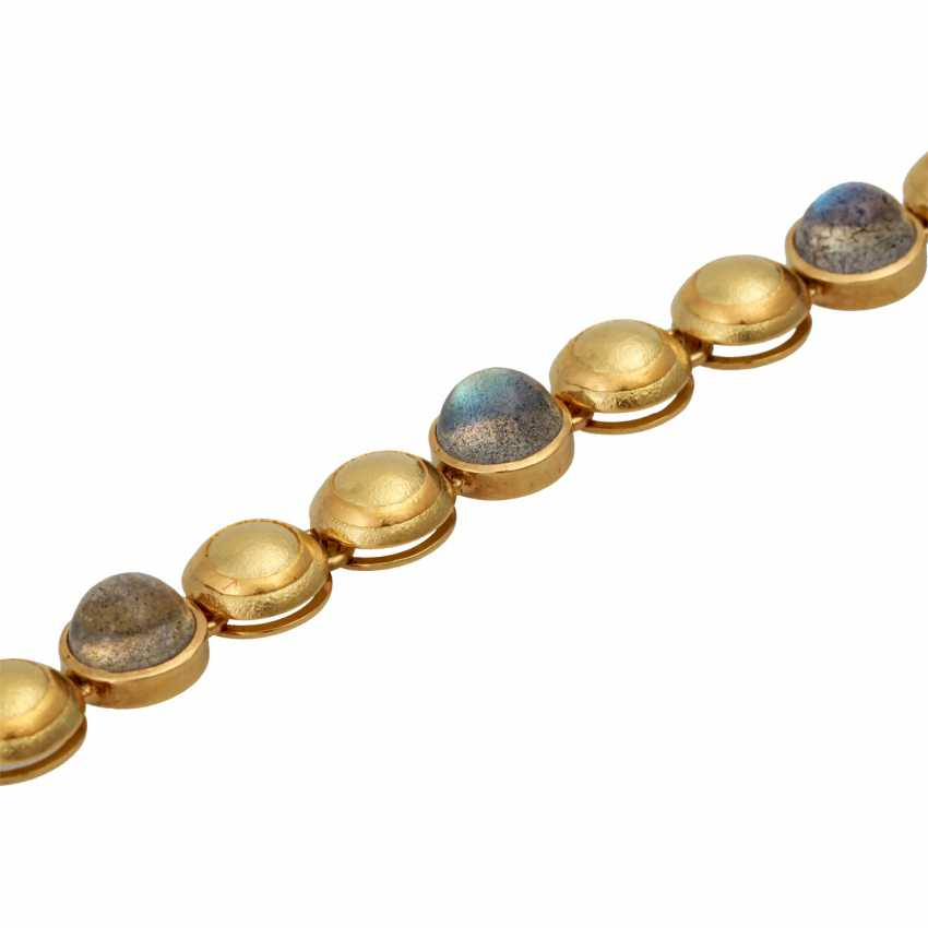 Bracelet with 6 round labradorite cabochons, - photo 4