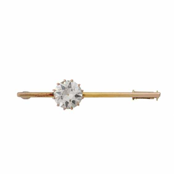 Pin with old European cut diamond of approx. 1.7 ct, - photo 1