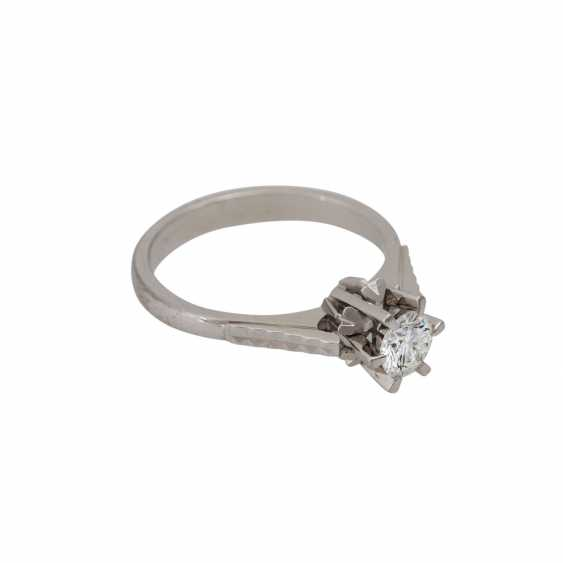 Brilliant Solitaire ring approx. 0.5 ct, - photo 1