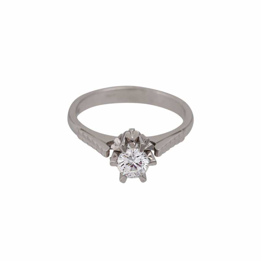 Brilliant Solitaire ring approx. 0.5 ct, - photo 2