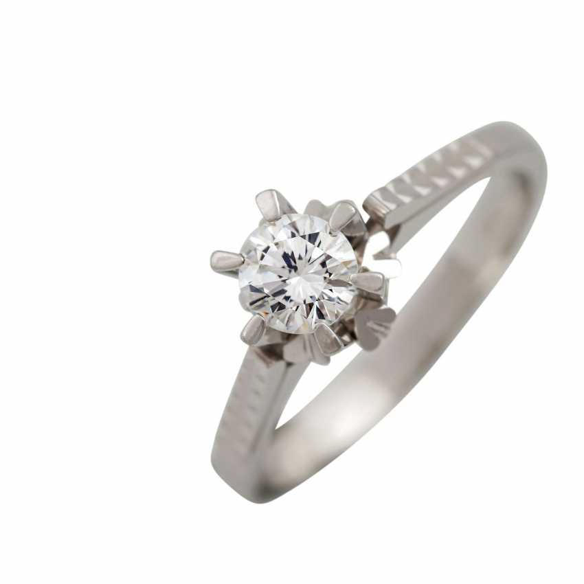 Brilliant Solitaire ring approx. 0.5 ct, - photo 5