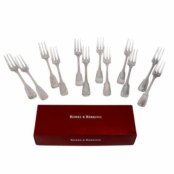 ROBBE & BERKING 12 cake forks 'Alt-Faden', 925 silver, 20th century. - photo 1
