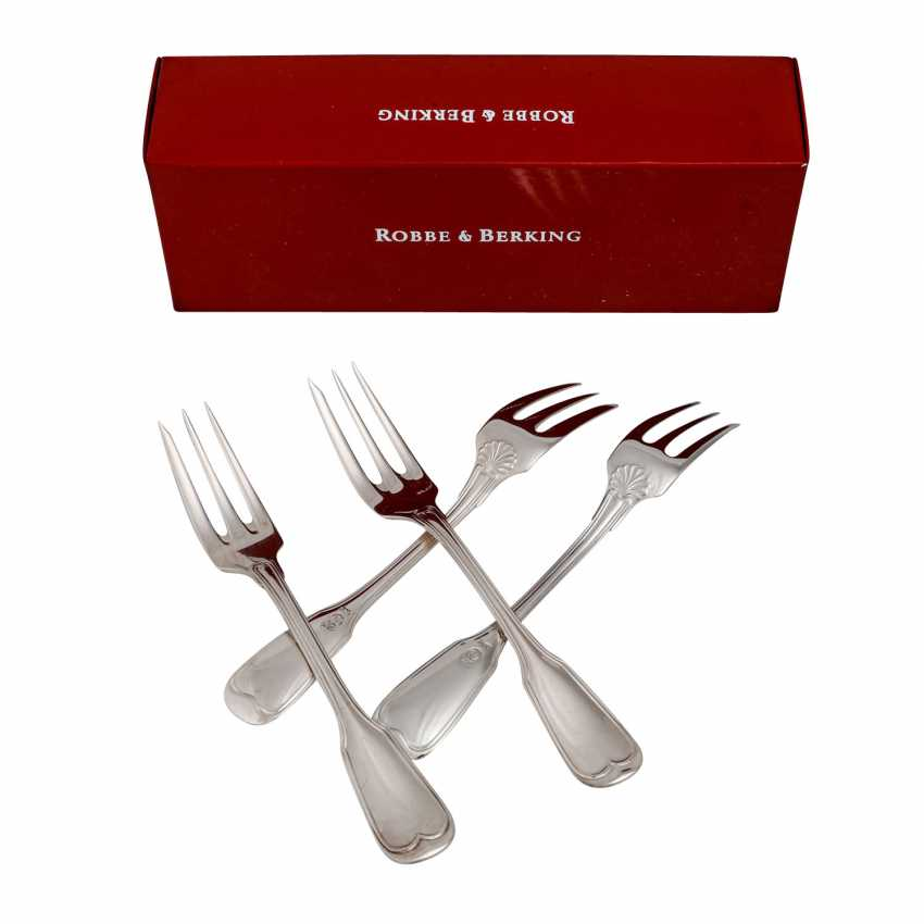 ROBBE & BERKING 12 cake forks 'Alt-Faden', 925 silver, 20th century. - photo 2