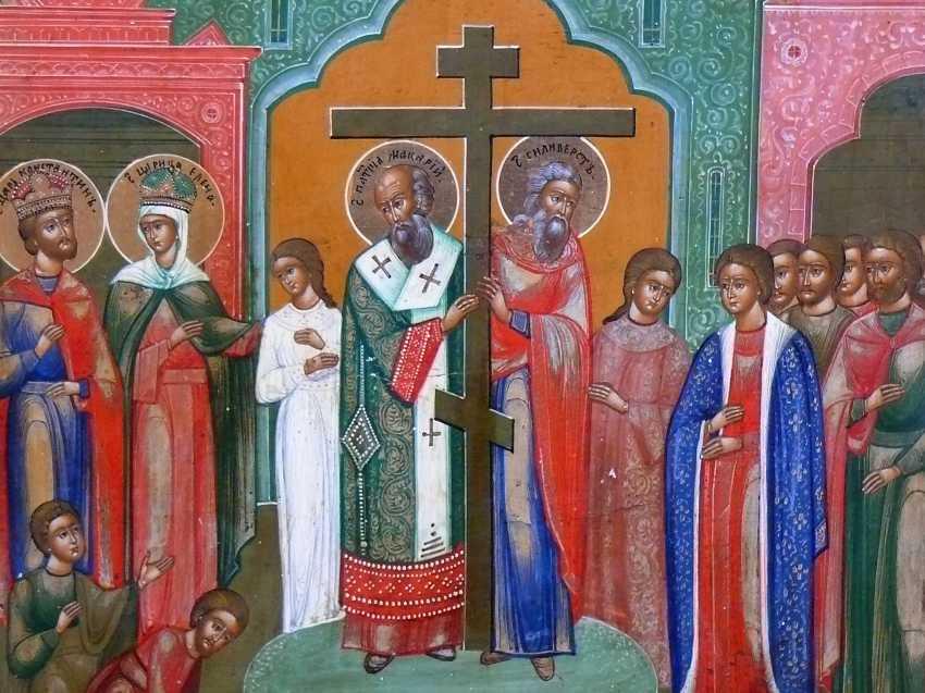Icon `` Exaltation of the True Cross '' - photo 2