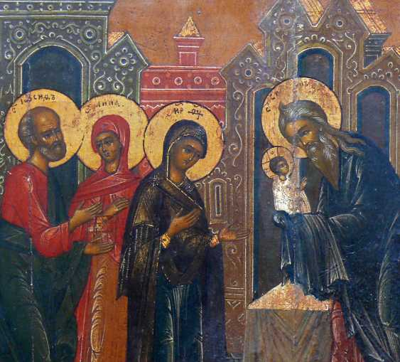 Icon '' Christ in the Temple and on the back Mandylion '' - photo 2