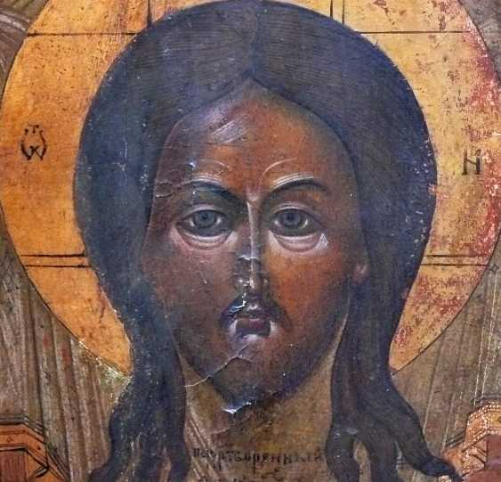 Icon '' Christ in the Temple and on the back Mandylion '' - photo 4