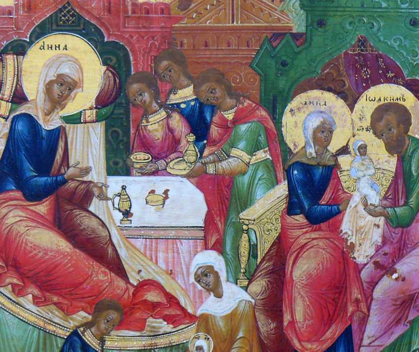 Icon `` Birth of Mary '' - photo 3