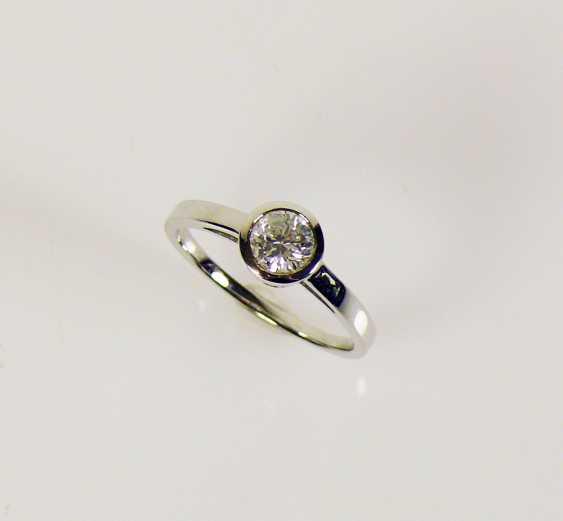 Solitaire diamond ladies ring - photo 1