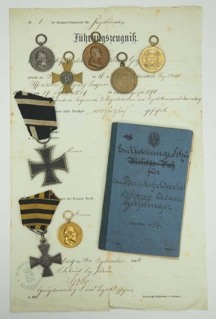 Württemberg: Estate of the Württemberg District Sergeant Johann Adam Geißlinger in the 3rd Jäger Battalion. 1.) Prussia: Iron Cross - photo 1