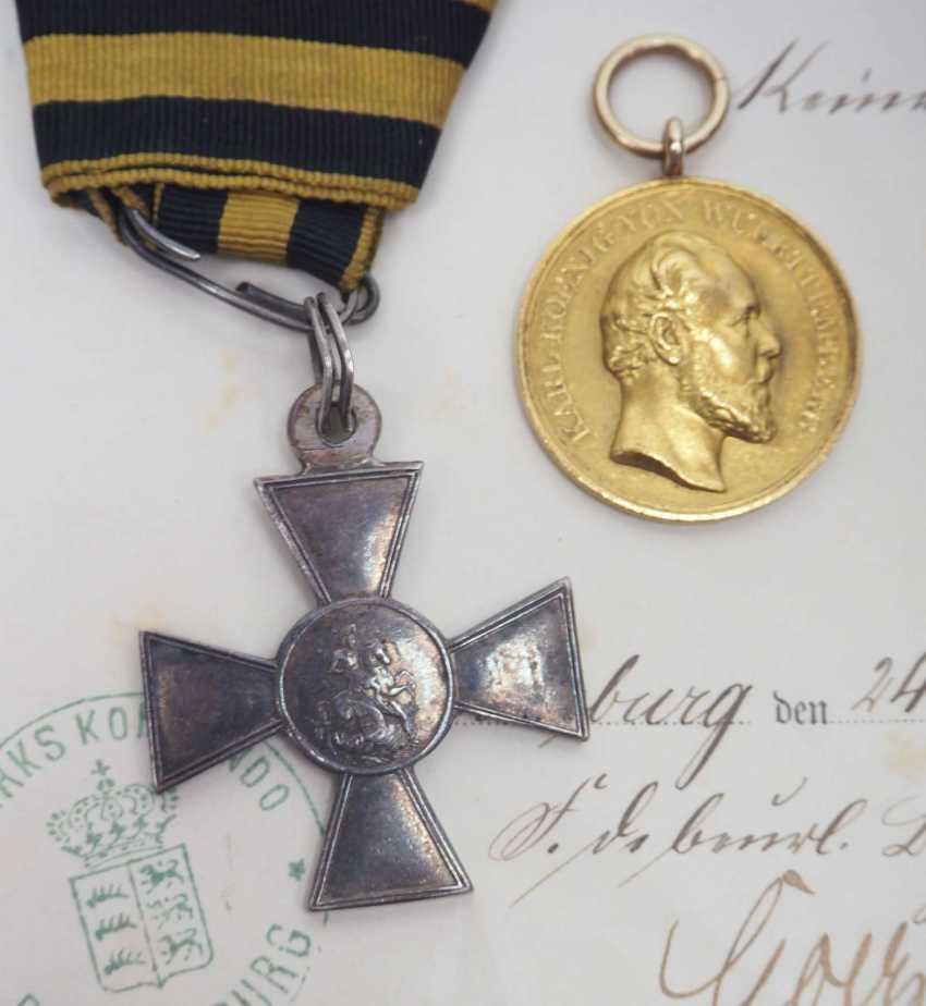 Württemberg: Estate of the Württemberg District Sergeant Johann Adam Geißlinger in the 3rd Jäger Battalion. 1.) Prussia: Iron Cross - photo 2