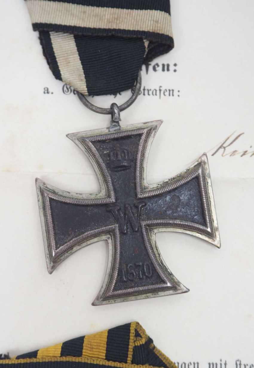 Württemberg: Estate of the Württemberg District Sergeant Johann Adam Geißlinger in the 3rd Jäger Battalion. 1.) Prussia: Iron Cross - photo 4