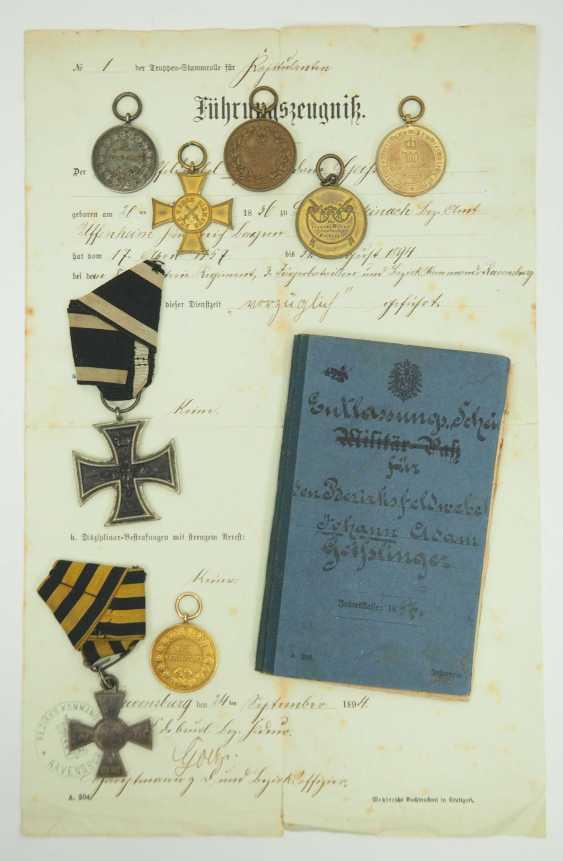 Württemberg: Estate of the Württemberg District Sergeant Johann Adam Geißlinger in the 3rd Jäger Battalion. 1.) Prussia: Iron Cross - photo 5
