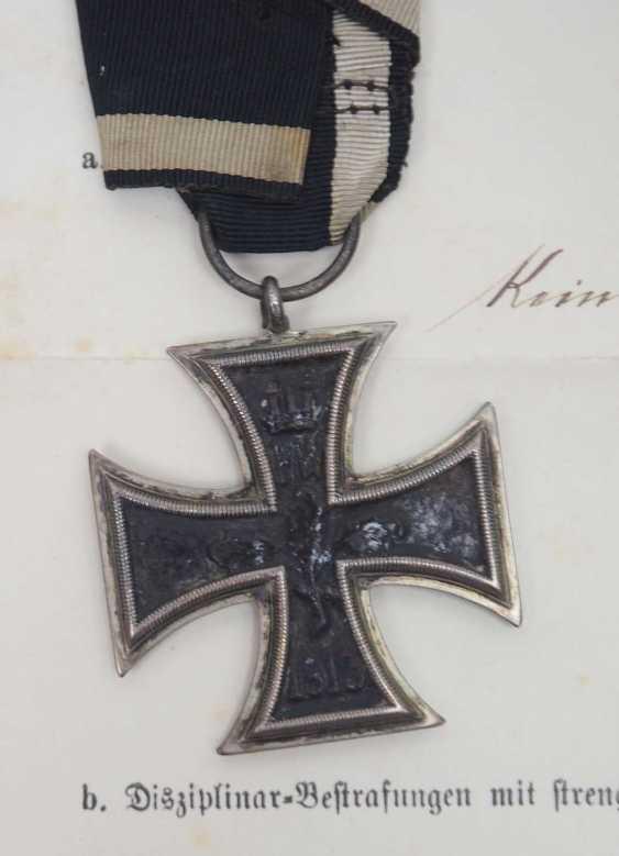 Württemberg: Estate of the Württemberg District Sergeant Johann Adam Geißlinger in the 3rd Jäger Battalion. 1.) Prussia: Iron Cross - photo 6