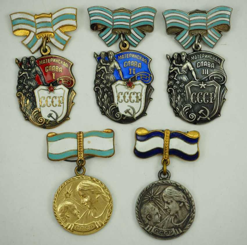 Soviet Union: Awards from a Highly Decorated Mother. 1st / 3rd) Order of Mother Glory - photo 1