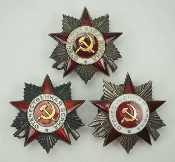 Soviet Union: Order of the Patriotic War - 3 copies. Gold each - photo 1